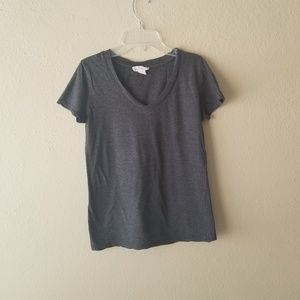 Dark Gray Heather V Neck TShirt